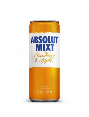 (12kpl) Absolut Mixt Cloudberry Apple 5,0% 25cl