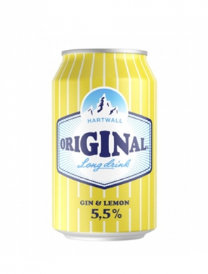 (24 kpl) Hartwall Original Long Drink Lemon 5,5% 33cl