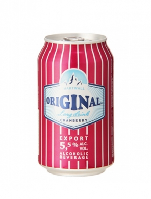 (24 kpl) Hartwall Original Long Drink Cranberry 5,5% 33cl