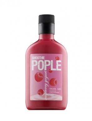 Lignell&Piispanen; Pople Smoothie Raspberry Yoghurt 15% 50cl PET