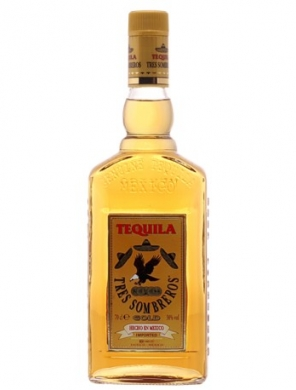 Tequila Tres Sombreros Gold 38% 70cl