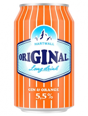 (24 kpl) Hartwall Original Long Drink Orange 5,5% 33cl