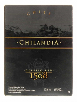 Chilandia Classic Red 300cl BIB 13%
