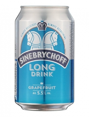 (24 kpl) Sinebrychoff Long Drink Grapefruit  5,5%  24x 33cl