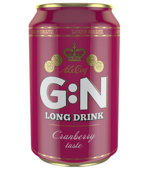 (24 kpl) A Le Coq Long Drink Cranberry 5,5% 33cl